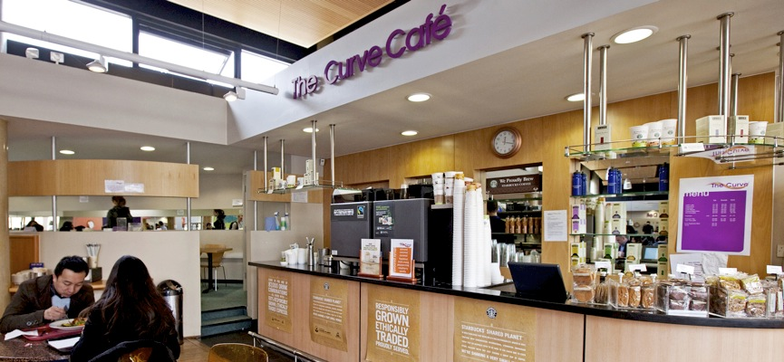 The Starbucks Coffee Bar in the Curve Restaurant at Queen Mary University of London