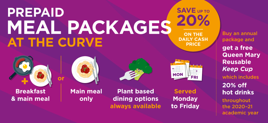 A slide describing the Curve Meal Packages offer